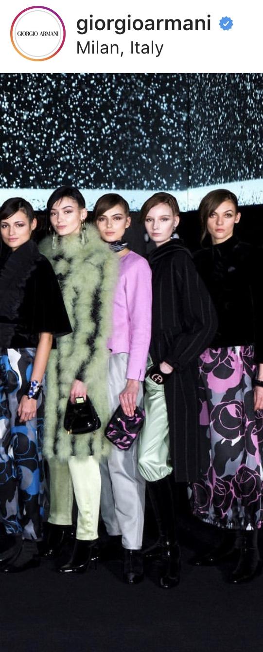 Laura Kerdokaitė - Louisa Spagnoli bei Giorgio Armani kolekcijose 2020-2021 , Milano madų savaitė