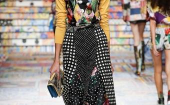 Laura Kerdokaite for Dolce Gabbana show , Milan 2021
